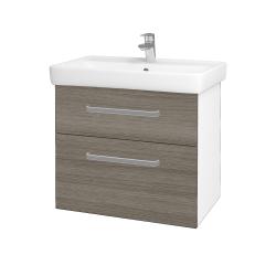 Dreja - Kúpeľňová skriňa Q MAX SZZ2 70 - N01 Bílá lesk / Úchytka T01 / D03 Cafe (68410A)