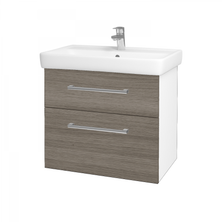 Dreja - Kúpeľňová skriňa Q MAX SZZ2 70 - N01 Bílá lesk / Úchytka T03 / D03 Cafe (68410C)