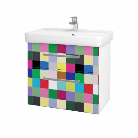 Dreja - Kúpeľňová skriňa Q MAX SZZ2 70 - N01 Bílá lesk / Úchytka T01 / IND Individual (61565A)