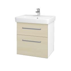 Dreja - Kúpeľňová skriňa Q MAX SZZ2 60 - N01 Bílá lesk / Úchytka T01 / D02 Bříza (60025A)