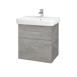 Dreja - Kúpeľňová skriňa Q MAX SZZ2 60 - D01 Beton / Úchytka T01 / D01 Beton (67529A)