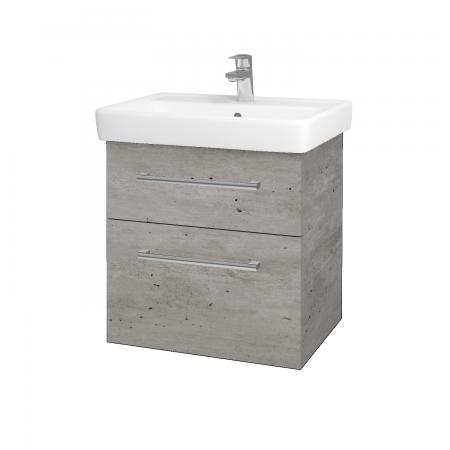 Dreja - Kúpeľňová skriňa Q MAX SZZ2 60 - D01 Beton / Úchytka T03 / D01 Beton (67529C)