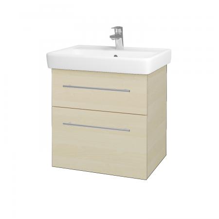 Dreja - Kúpeľňová skriňa Q MAX SZZ2 60 - D02 Bříza / Úchytka T02 / D02 Bříza (60285B)