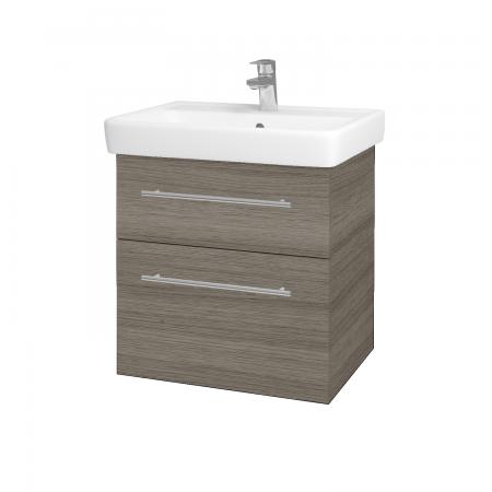 Dreja - Kúpeľňová skriňa Q MAX SZZ2 60 - D03 Cafe / Úchytka T02 / D03 Cafe (68441B)