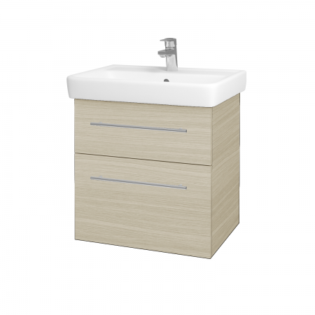 Dreja - Kúpeľňová skriňa Q MAX SZZ2 60 - D04 Dub / Úchytka T02 / D04 Dub (60346B)