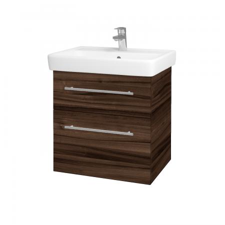 Dreja - Kúpeľňová skriňa Q MAX SZZ2 60 - D06 Ořech / Úchytka T02 / D06 Ořech (60353B)