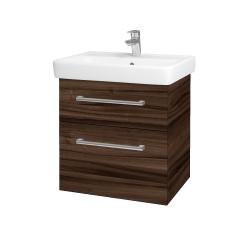 Dreja - Kúpeľňová skriňa Q MAX SZZ2 60 - D06 Ořech / Úchytka T03 / D06 Ořech (60353C)