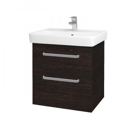 Dreja - Kúpeľňová skriňa Q MAX SZZ2 60 - D08 Wenge / Úchytka T01 / D08 Wenge (60292A)