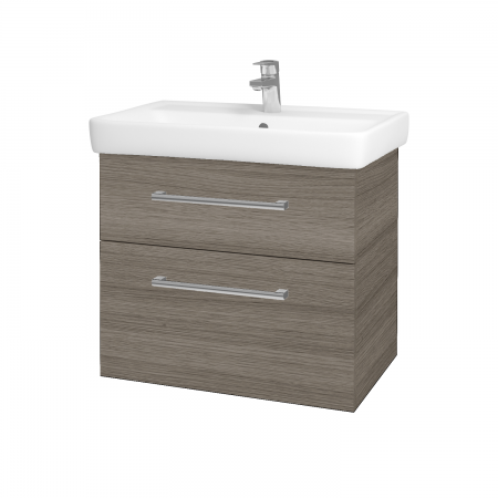 Dreja - Kúpeľňová skriňa Q MAX SZZ2 70 - D03 Cafe / Úchytka T03 / D03 Cafe (68458C)