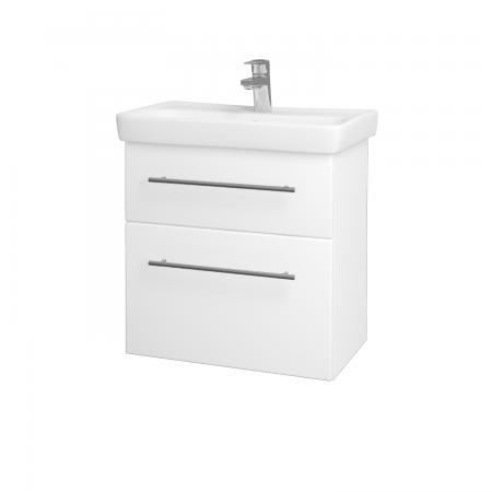 Dreja - Kúpeľňová skriňa GO SZZ2 60 - N01 Bílá lesk / Úchytka T02 / L01 Bílá vysoký lesk (20760B)