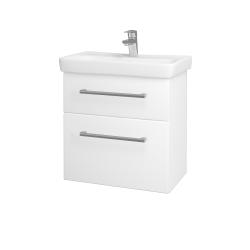 Dreja - Kúpeľňová skriňa GO SZZ2 60 - N01 Bílá lesk / Úchytka T03 / L01 Bílá vysoký lesk (20760C)