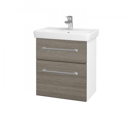 Dreja - Kúpeľňová skriňa GO SZZ2 55 - N01 Bílá lesk / Úchytka T03 / D03 Cafe (27929C)