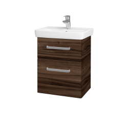 Dreja - Kúpeľňová skriňa GO SZZ2 50 - D06 Ořech / Úchytka T01 / D06 Ořech (29763A)