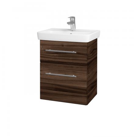 Dreja - Kúpeľňová skriňa GO SZZ2 50 - D06 Ořech / Úchytka T02 / D06 Ořech (29763B)