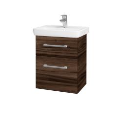 Dreja - Kúpeľňová skriňa GO SZZ2 50 - D06 Ořech / Úchytka T03 / D06 Ořech (29763C)