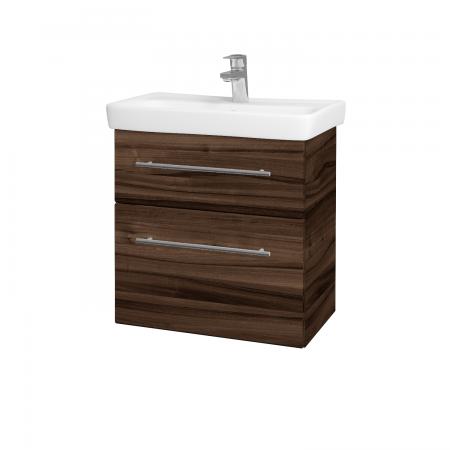 Dreja - Kúpeľňová skriňa GO SZZ2 60 - D06 Ořech / Úchytka T02 / D06 Ořech (29787B)