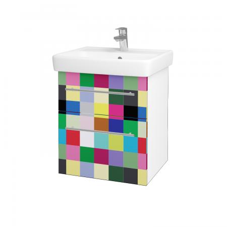Dreja - Kúpeľňová skriňa Q MAX SZZ2 55 - N01 Bílá lesk / Úchytka T02 / IND Individual (61541B)