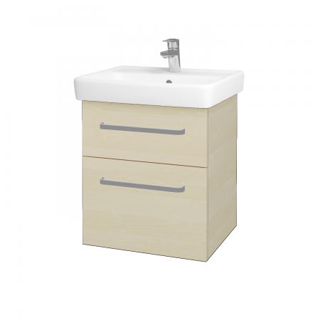 Dreja - Kúpeľňová skriňa Q MAX SZZ2 55 - D02 Bříza / Úchytka T01 / D02 Bříza (61152A)