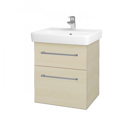 Dreja - Kúpeľňová skriňa Q MAX SZZ2 55 - D02 Bříza / Úchytka T03 / D02 Bříza (61152C)