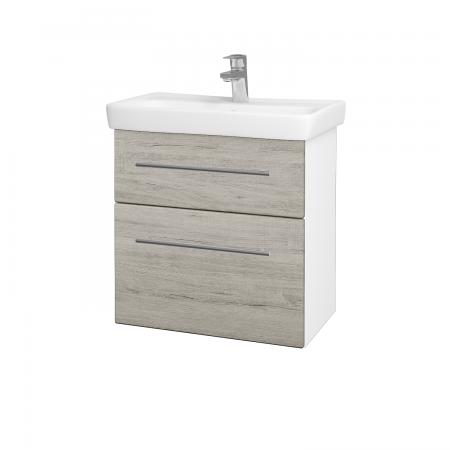 Dreja - Kúpeľňová skriňa GO SZZ2 60 - N01 Bílá lesk / Úchytka T02 / D05 Oregon (27998B)