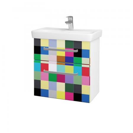 Dreja - Kúpeľňová skriňa GO SZZ2 60 - N01 Bílá lesk / Úchytka T01 / IND Individual (23839A)