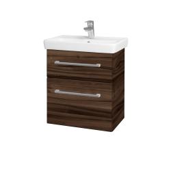 Dreja - Kúpeľňová skriňa GO SZZ2 55 - D06 Ořech / Úchytka T03 / D06 Ořech (29770C)