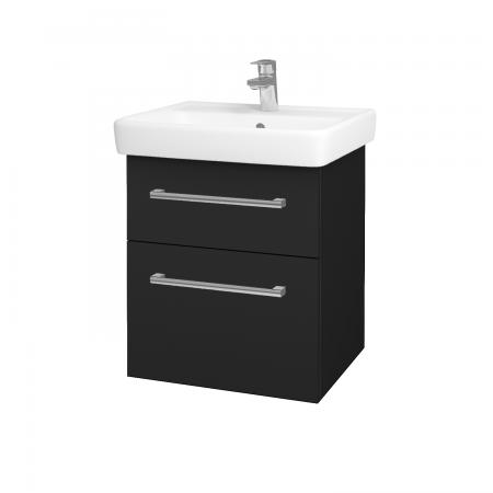 Dreja - Kúpeľňová skriňa Q MAX SZZ2 55 - L03 Antracit vysoký lesk / Úchytka T03 / L03 Antracit vysoký lesk (60360C)