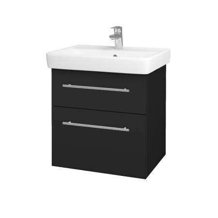 Dreja - Kúpeľňová skriňa Q MAX SZZ2 60 - L03 Antracit vysoký lesk / Úchytka T02 / L03 Antracit vysoký lesk (60377B)