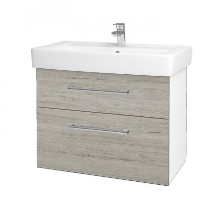 Dreja - Kúpeľňová skriňa Q MAX SZZ2 80 - N01 Bílá lesk / Úchytka T03 / D05 Oregon (61749C)