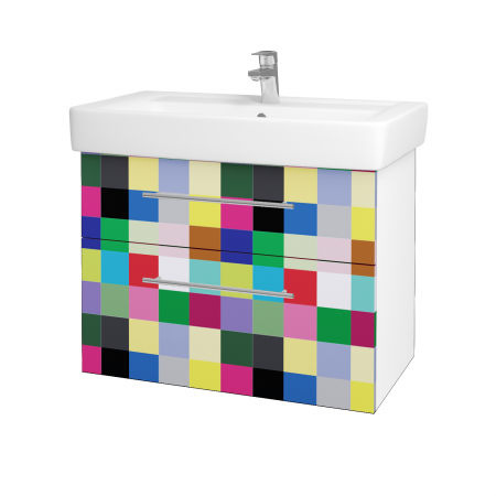Dreja - Kúpeľňová skriňa Q MAX SZZ2 80 - N01 Bílá lesk / Úchytka T02 / IND Individual (61572B)