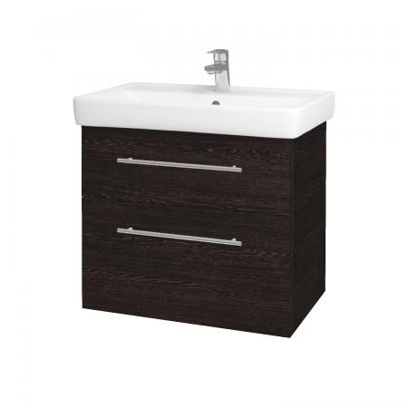 Dreja - Kúpeľňová skriňa Q MAX SZZ2 70 - D08 Wenge / Úchytka T02 / D08 Wenge (60315B)