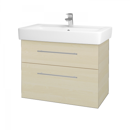 Dreja - Kúpeľňová skriňa Q MAX SZZ2 80 - D02 Bříza / Úchytka T02 / D02 Bříza (60322B)