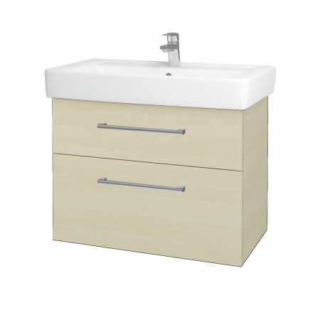 Dreja - Kúpeľňová skriňa Q MAX SZZ2 80 - D02 Bříza / Úchytka T03 / D02 Bříza (60322C)