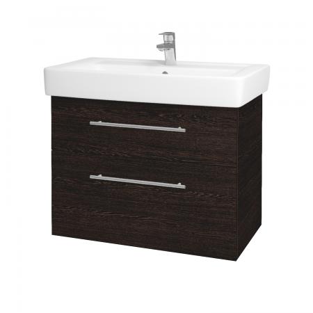 Dreja - Kúpeľňová skriňa Q MAX SZZ2 80 - D08 Wenge / Úchytka T02 / D08 Wenge (60339B)