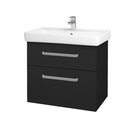 Dreja - Kúpeľňová skriňa Q MAX SZZ2 70 - L03 Antracit vysoký lesk / Úchytka T01 / L03 Antracit vysoký lesk (60384A)