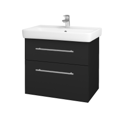 Dreja - Kúpeľňová skriňa Q MAX SZZ2 70 - L03 Antracit vysoký lesk / Úchytka T02 / L03 Antracit vysoký lesk (60384B)