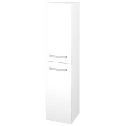 Dreja - Skriňa vysoká DOS SVD2 35 - N01 Bílá lesk / Úchytka T01 / L01 Bílá vysoký lesk / Levé (22351A)