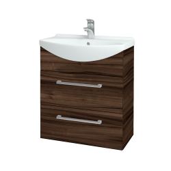 Dreja - Kúpeľňová skriňa TAKE IT SZZ2 65 - D06 Ořech / Úchytka T03 / D06 Ořech (133795C)