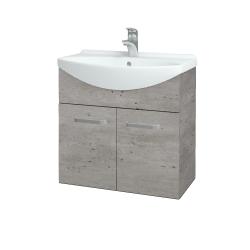 Dreja - Kúpeľňová skriňa TAKE IT SZD2 65 - D01 Beton / Úchytka T01 / D01 Beton (133238A)