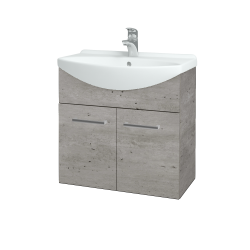 Dreja - Kúpeľňová skriňa TAKE IT SZD2 65 - D01 Beton / Úchytka T03 / D01 Beton (133238C)