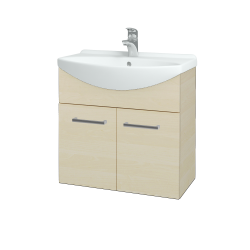 Dreja - Kúpeľňová skriňa TAKE IT SZD2 65 - D02 Bříza / Úchytka T03 / D02 Bříza (133245C)