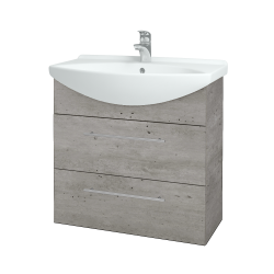 Dreja - Kúpeľňová skriňa TAKE IT SZZ2 75 - D01 Beton / Úchytka T02 / D01 Beton (133894B)