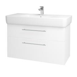 Dreja - Kúpeľňová skriňa Q MAX SZZ2 100 - N01 Bílá lesk / Úchytka T02 / L01 Bílá vysoký lesk (132224B)