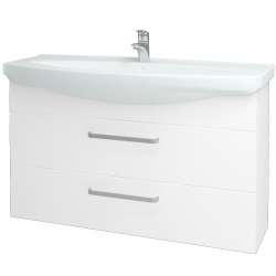 Dreja - Kúpeľňová skriňa TAKE IT SZZ2 120 - N01 Bílá lesk / Úchytka T01 / N01 Bílá lesk (134471A)
