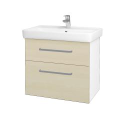 Dreja - Kúpeľňová skriňa Q MAX SZZ2 70 - N01 Bílá lesk / Úchytka T01 / D02 Bříza (60056A)