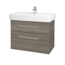 Dreja - Kúpeľňová skriňa Q MAX SZZ2 80 - D03 Cafe / Úchytka T02 / D03 Cafe (115654B)