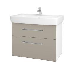 Dreja - Kúpeľňová skriňa Q MAX SZZ2 80 - N01 Bílá lesk / Úchytka T03 / L04 Béžová vysoký lesk (115616C)