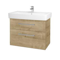 Dreja - Kúpeľňová skriňa Q MAX SZZ2 80 - D09 Arlington / Úchytka T03 / D09 Arlington (115715C)