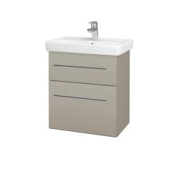 Dreja - Kúpeľňová skriňa GO SZZ2 55 - L04 Béžová vysoký lesk / Úchytka T02 / L04 Béžová vysoký lesk (148423B)