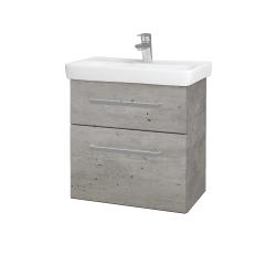 Dreja - Kúpeľňová skriňa GO SZZ2 60 - D01 Beton / Úchytka T01 / D01 Beton (148584A)